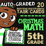 5th Grade Multi-Step Word Problems ☆ 5th Grade Google Classroom™ Christmas Fun