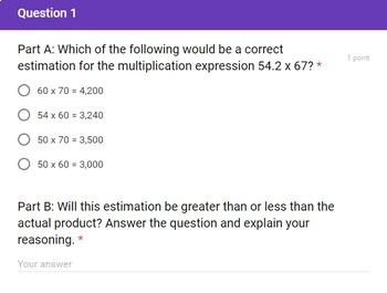 5th Grade 3 Multiplication Quick Checks Google Forms Assessments