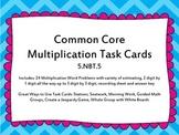 5th Grade Multiplication Common Core Task Cards 5.NBT.5
