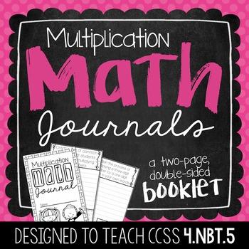 4th Grade Multiplication Math Journal