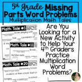 5th Grade Multiplication Math Libs Word Problem Activity