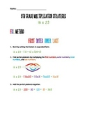 5th Grade Multiplication Strategies Reference Packet