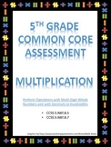 5th Grade Multiplication Test - Common Core