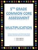 5th Grade Multiplication Test - Common Core