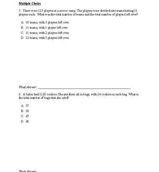 5th Grade Multiplication and Division Worksheets