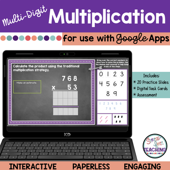 5th Grade Multiplication of Whole Numbers Traditional Algorithm