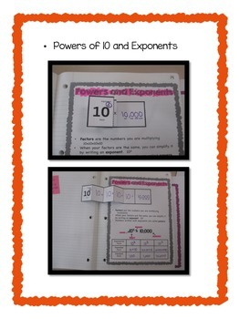 5th Grade Multiplication/Division/Order of Operations Interactive Notebook