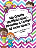 5th Grade Multiplication/Division/Order of Operations Inte