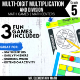 5th Grade Multiplication and Division Whole Number Games and Centers