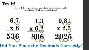5th Grade: Multiplying Decimals