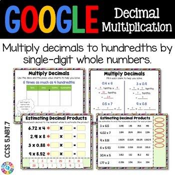 5th Grade Multiplying Decimals by Single Digit Numbers {5.NBT.7} - Google