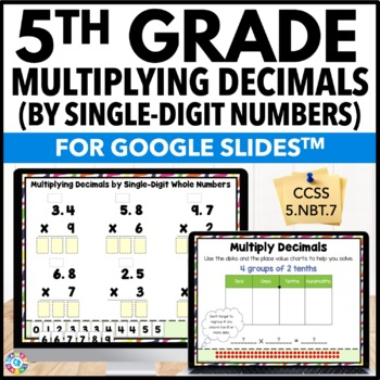 5th Grade Multiplying Decimals by Whole Numbers {5.NBT.7} Google Classroom