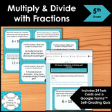 5th Grade Multiplying and Dividing Fractions Math Task Cards