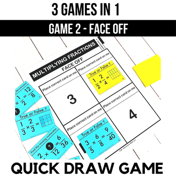 Multiplying Fraction Games and Centers 5th Grade