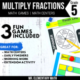 5th Grade Multiplying Fractions Games and Centers