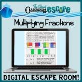 5th Grade Multiplying Fractions Digital Escape Room - Dist