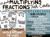 5th Grade Multiplying Fractions: QR Code Task Cards