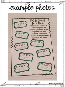 Fifth Grade Math Multiplying and Dividing Decimals Interactive Notebook