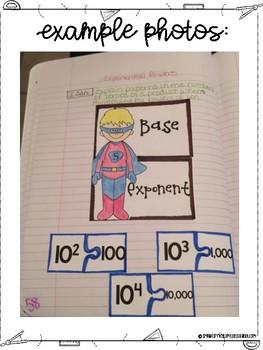 Fifth Grade Math Multiplying and Dividing Decimals Interactive Notebook