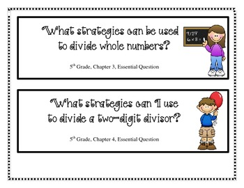 5th Grade My Math Essential Questions