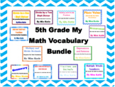 5th Grade My Math Vocabulary Poster Bundle