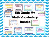 5th Grade My Math Vocabulary Poster Bundle