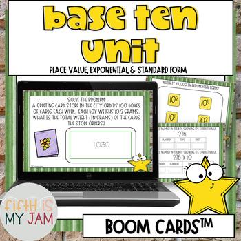 5th Grade NBT 1 and NBT 2 Task Cards