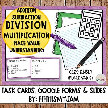 5th Grade NBT 7 Task Cards