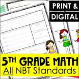 5th Grade NBT Review Sheets - All NBT Standards