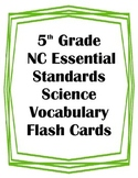 5th Grade NC Essential Standards Science Body Systems Vocabulary Flash Cards