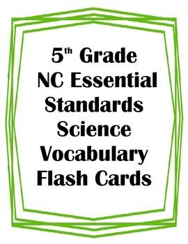5th Grade NC Essential Standards Science Matter & Energy V