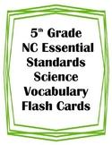 5th Grade NC Essential Standards Science Weather Vocabular