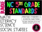 2018-19 5th Grade NC Standards & Essential Questions ELA, Math, Science, SS