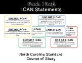 5th Grade NCSCOS I CAN Statements