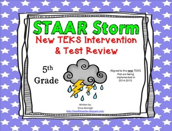 5th Grade NEW TEKS STAAR Storm Intervention & Test Review