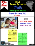 5th Grade NEW TEKS TX Tornado Spiral Review Part 1 (sets 1