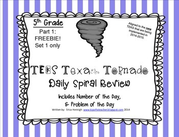 1st grade math with texas teks teaching resources teachers pay 5th grade new teks tx tornado spiral review pt 1set 1 onlyfree fandeluxe