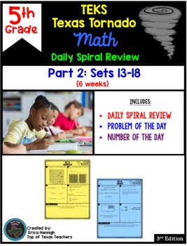5th Grade NEW TEKS TX Tornado Spiral Review Pt 2 (Sets 7-12)  Be STAAR Ready