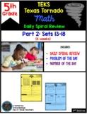 5th Grade Math TEKS Texas Tornado: Daily Spiral Review Part 2 (Sets 13-18)