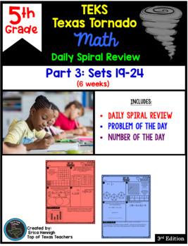 5th Grade NEW TEKS TX Tornado Spiral Review Pt 3 (Sets 13-18)  Be STAAR Ready