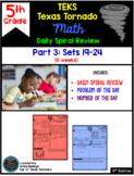 5th Grade Math TEKS Texas Tornado: Daily Spiral Review Part 3 (Sets 19-24)