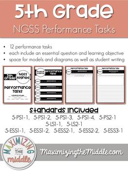 Full Year 5th Grade NGSS Aligned Performance Tasks