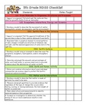 5th Grade NGSS Checklist