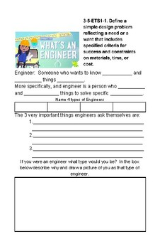 5th Grade NGSS Crash Course Journal: Engineering