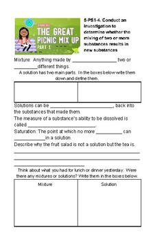 5th Grade NGSS Crash Course Journal: Physical Science