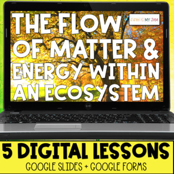 Matter and Energy in an Ecosystem NGSS All Digital Learning Distance Learning