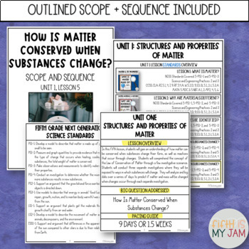 5th Grade NGSS // How Do Changes to Substances Effect Their Weights?
