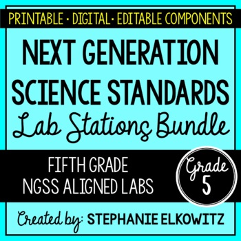 5th Grade NGSS Lab Stations Bundle