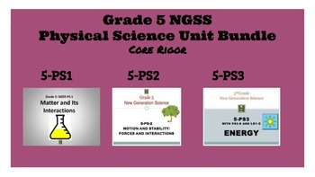 5th Grade NGSS Physical Science Bundle