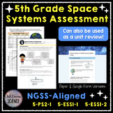 5th Grade NGSS Space Systems Unit Assessment or Review